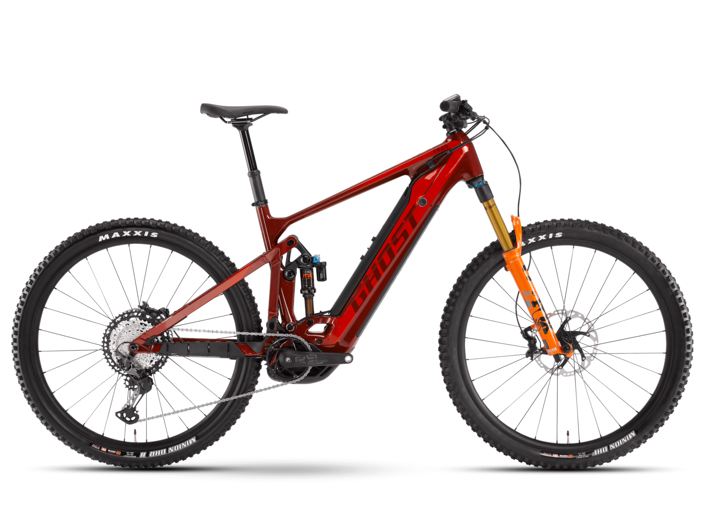 [Translate to English:] seitenansicht ghost bikes e riot trail pro emtb